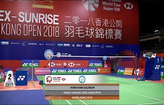 Yonex Sunrise Hongkong Open Biss Key Eutelsat 10A 16 November 2018