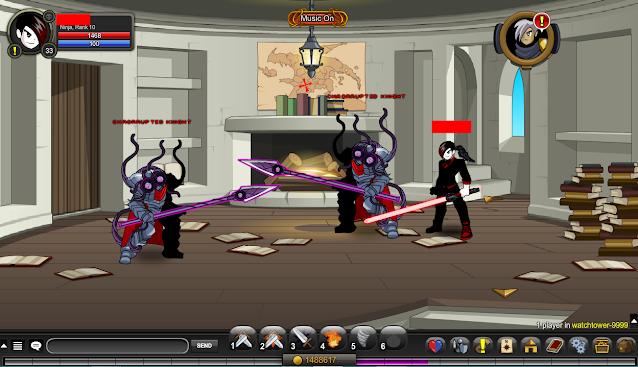 Chaorrupted Knight AQW Coordinates