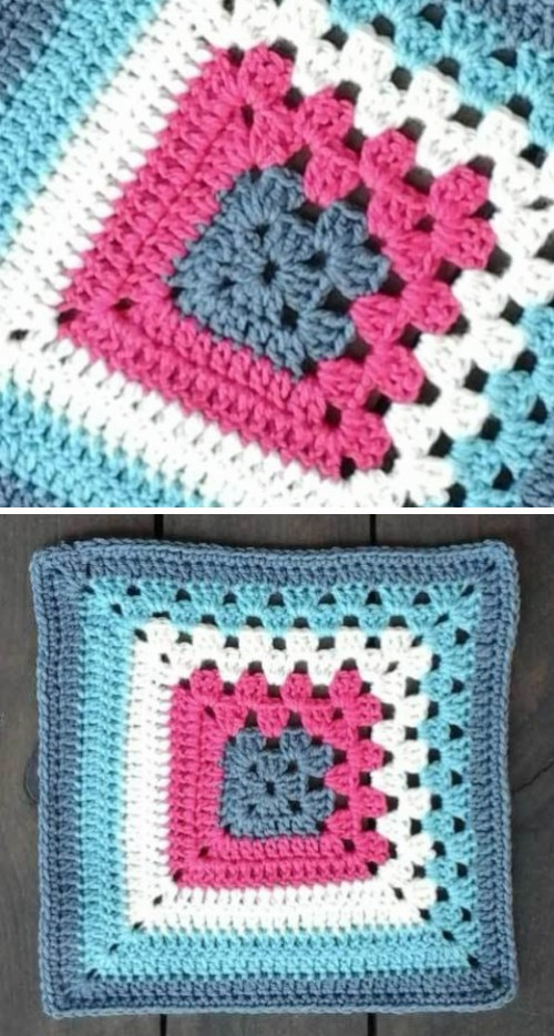 Split Granny Square - Free Pattern