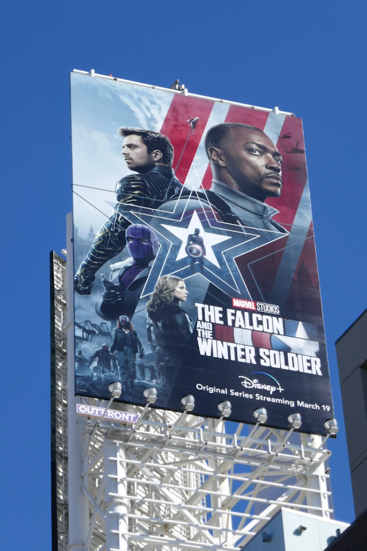 Marvel Studios Falcon and Winter Soldier billboard