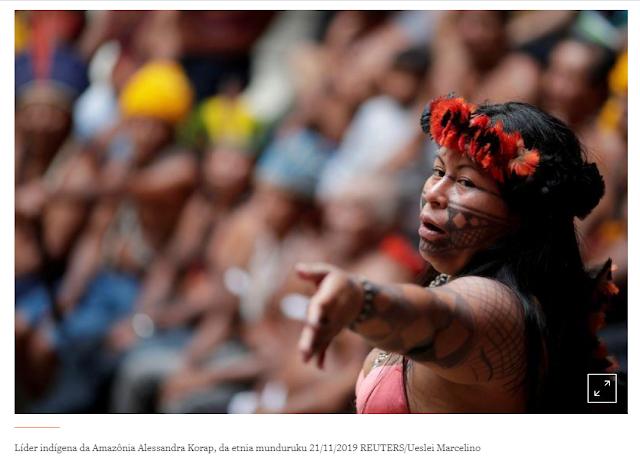 Líder indígena brasileira ganha prêmio de direitos humanos Robert Kennedy