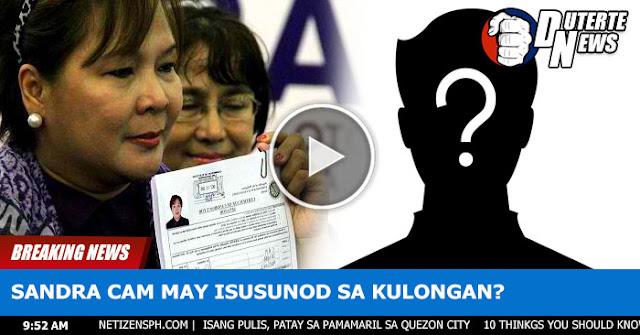 Sandra Cam Merong Isusunod Kay De Lima Sa Kulungan. Sino Kaya?