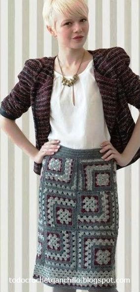 20 Faldas para tejer con Ganchillo / patrones y moldes | Todo crochet