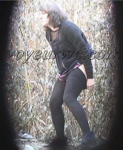 PissHunters 8609-8624 (Outdoor voyeur peeing. Voyeur public toilet spy cam)
