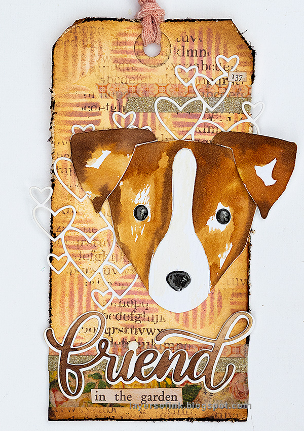 Layers of ink - Jack Russell Tag Tutorial by Anna-Karin Evaldsson, with SSS Big Picture Book Jack Russell.