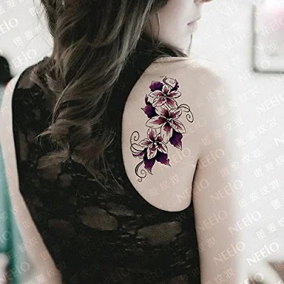 Kotbs Temporary Tattoos Paper Lovely English Words & Feather Designs Body Art Make up for Women Fake Tattoo Sticker