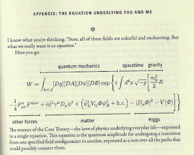 Sean Carroll's Equation
