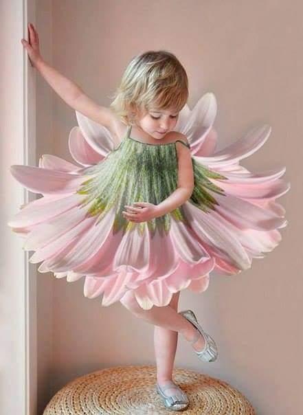 Flower Girl , Fesyen Baju Bentuk Bunga, Baju Bentuk Bunga , Bunga Kembang , Dress Bunga , Kanak Kanak Comel ,
