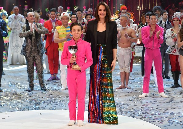Prince Albert, Princess Stephanie of Monaco, Pauline Ducruet and Louis Ducruet