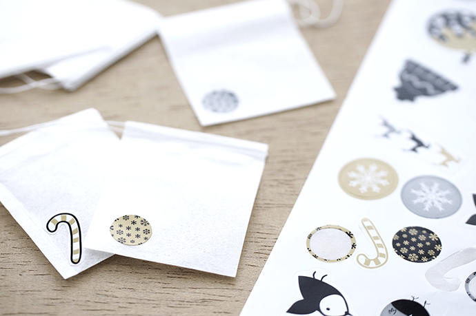 Teebeutelrohlinge, Weihnachtssticker, Klebebildchen für Weihnachten