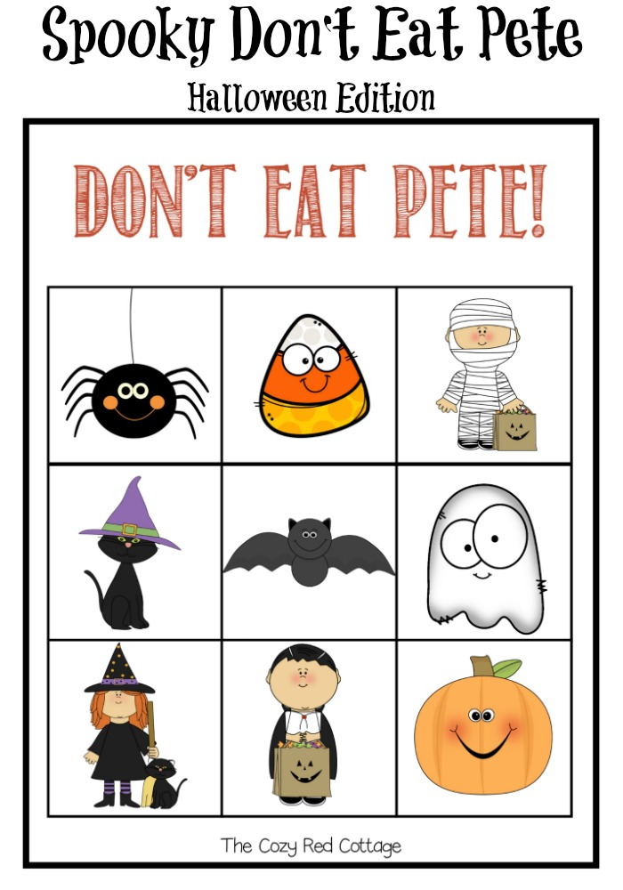 image regarding Don't Eat Pete Printable titled The Comfortable Crimson Cottage: Dont Try to eat Pete Halloween Version