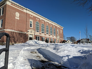 earlier this winter, Davis Thayer in the snow