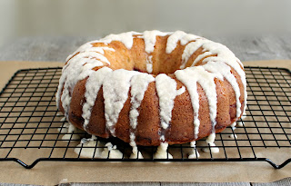 Lemon Cherry Bundt Cake with Lemon Glaze