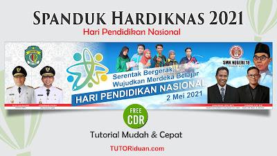Desain Spanduk Hardiknas 2021 CDR