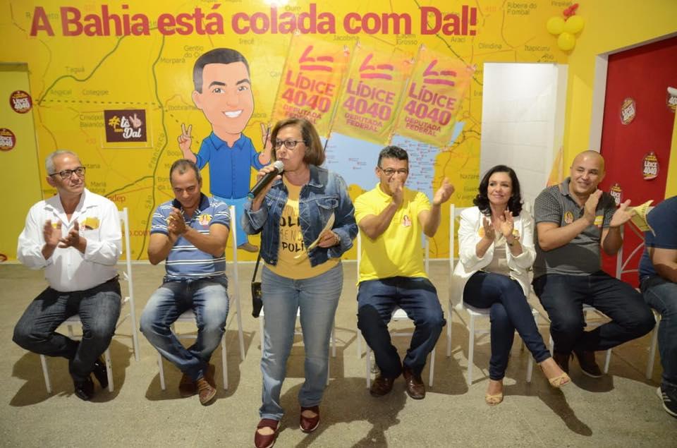 PSB de Amargosa confirma apoio a candidatura de Lídice da Mata para deputada federal