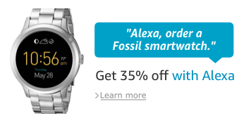 Fossil Q Founder Alexa Offer - Grab it!