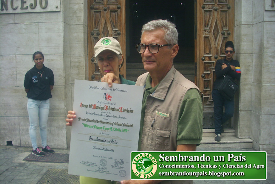 """Premio de Conservación y Difusión Ambiental """"Waraira Repano (Cerro El Ávila)"""" 2019 Mención Televisión"""