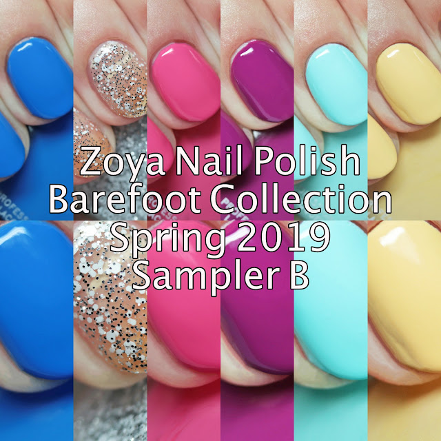 Zoya Barefoot Collection Spring 2019 Sampler B