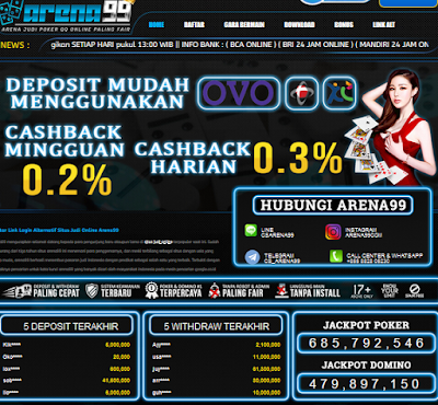 Arena99 | Situs Judi Poker Terbaik Saat Ini