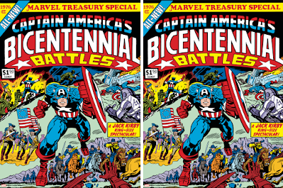 Captain America's Bicentennial Battles Print by Jack Kirby & Frank Giacoia x Marvel x Grey Matter Art