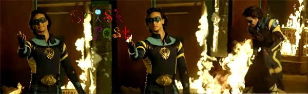 Flying Jatt Tiger Shroff in fire action