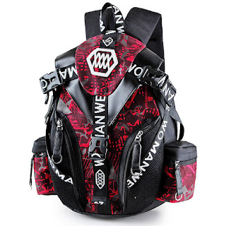 Modern Korean Design Backpack Red Skin Pattern