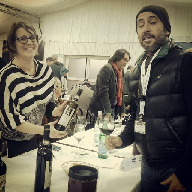 Laura Gray from the Palazzone vineyard at the Benvenuto Brunello tasting