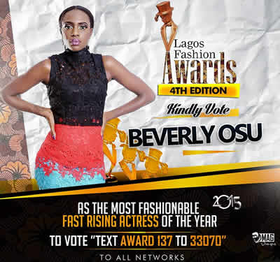 Beverly Osu Nominated Lagos Fashion Awards