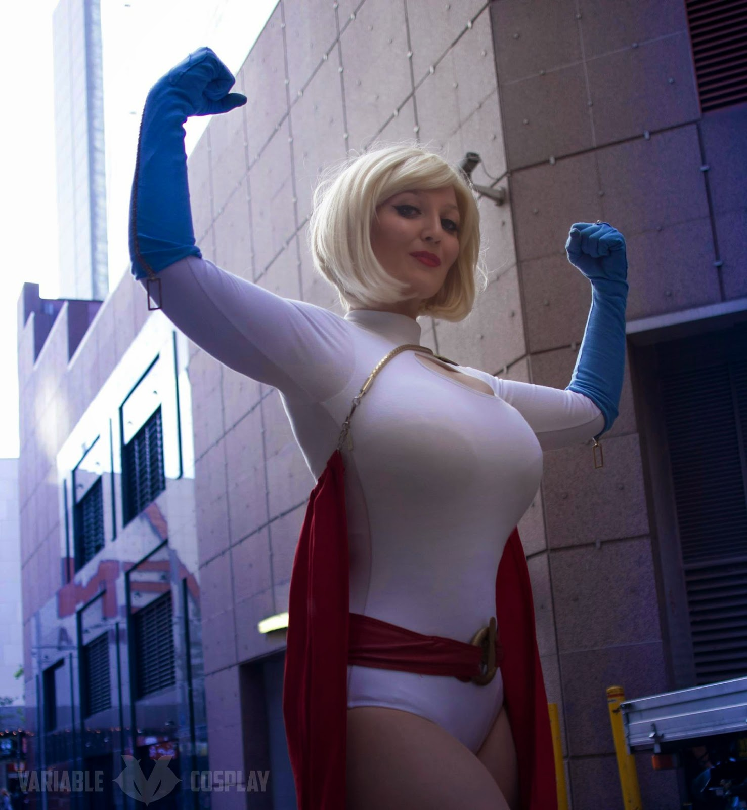 Agree, Power girl cosplay huge very pity