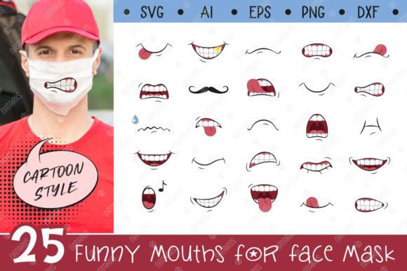 Free Svg Craft Design 25 Funny Mouths For Medical Face Mask
