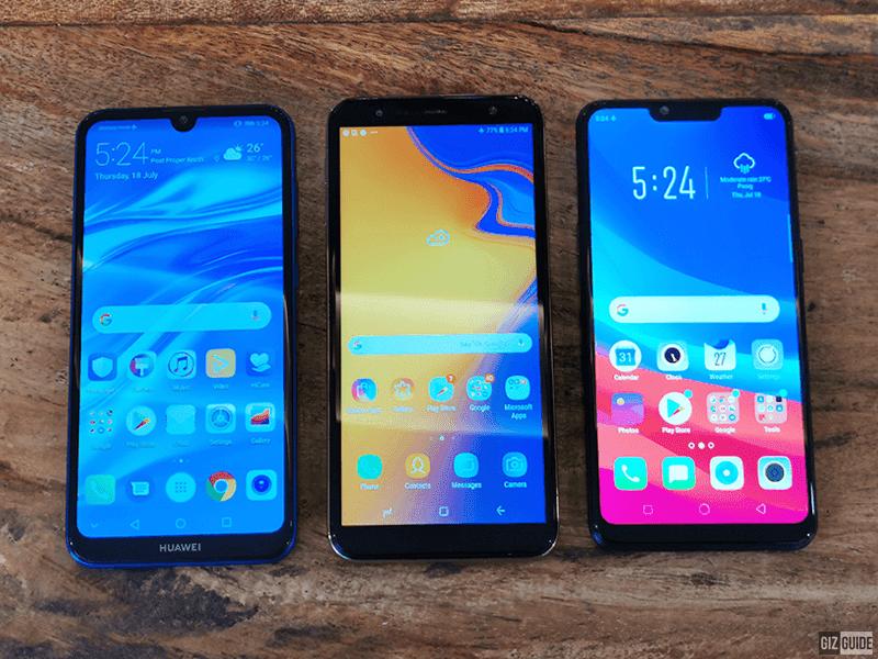 Huawei Y7 Pro 2019 vs Samsung Galaxy J6+ (2018) vs OPPO A3s
