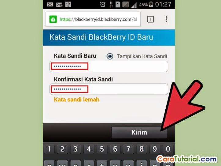 Kata sandi Blackberry ID baru