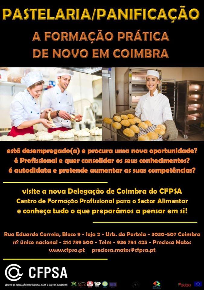Coimbra – Cursos de pastelaria financiados