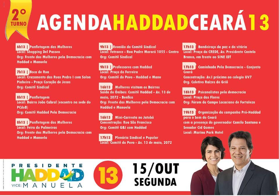 Movimento Pró-Haddad promove 13 eventos em Fortaleza nesta segunda 0fc0c4ca09