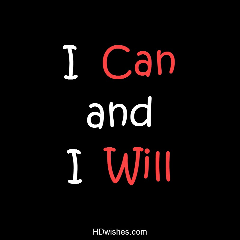 I Can and I Will Black DP