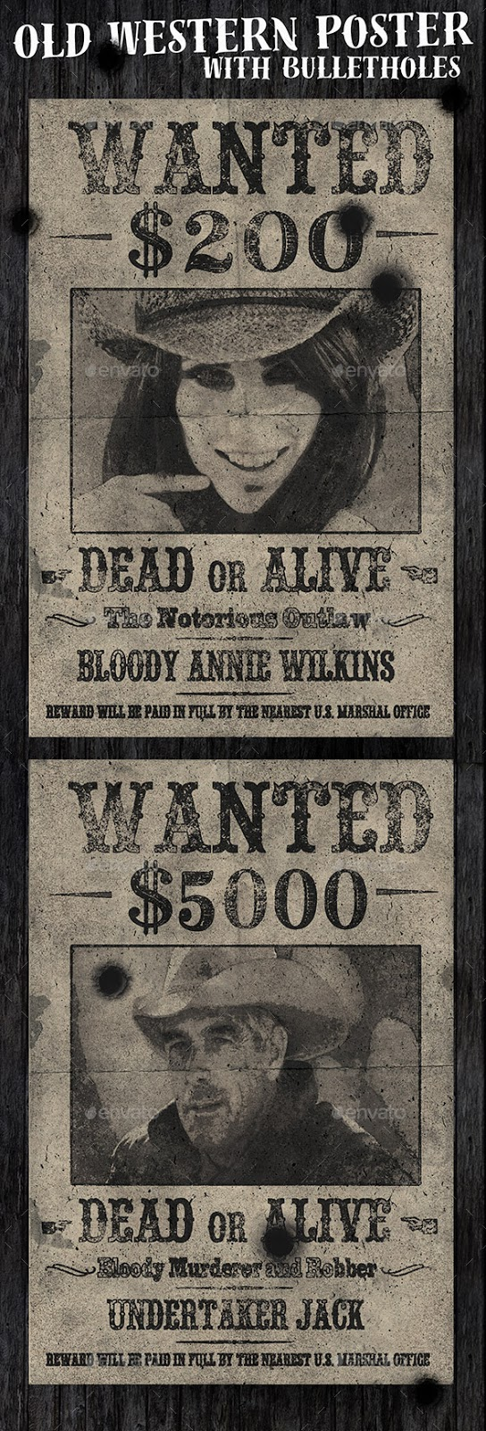 Old Western Vintage Wanted Poster  Free Wanted Poster Template Download