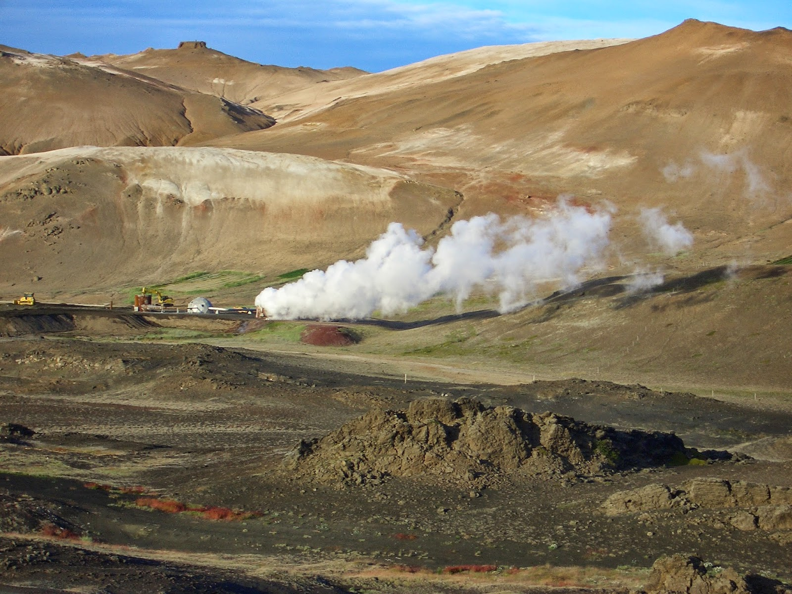 Reykjahlid, estacion geotermica