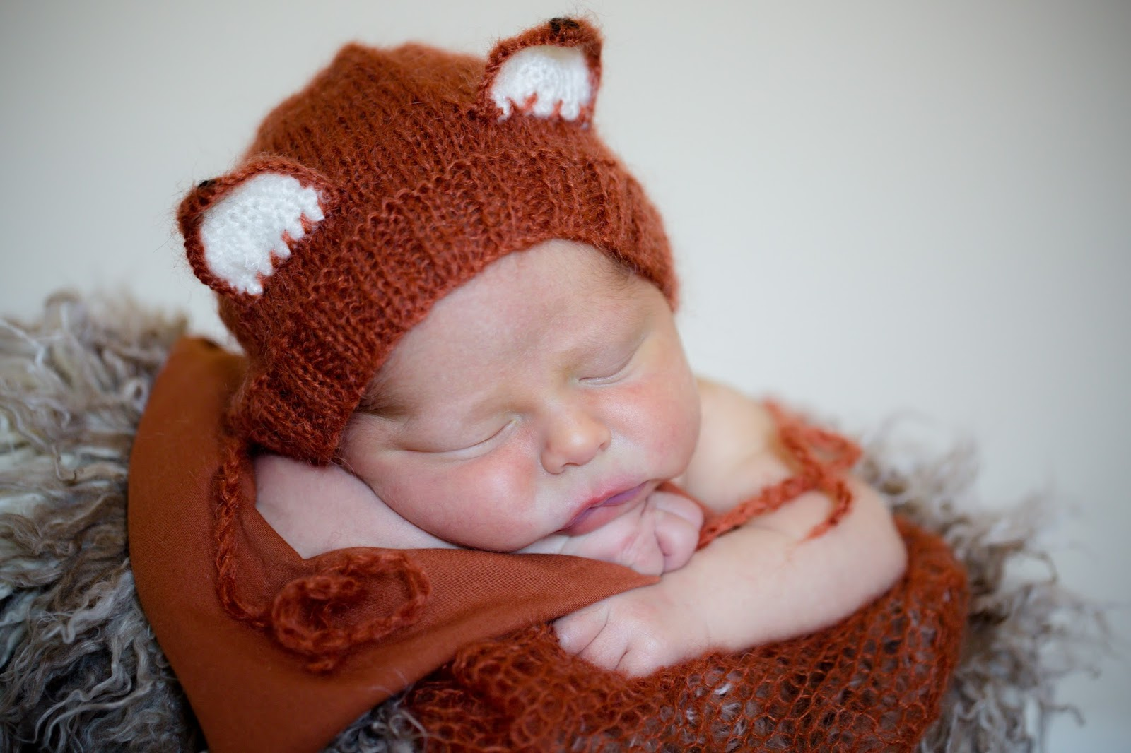 newborn baby boy fox outfit