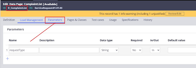 how to pass parameters to data page in pega