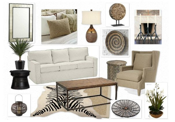 Safari / Tropical Living Room Interior Ideas