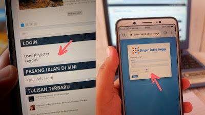 login dan register ke website BRT