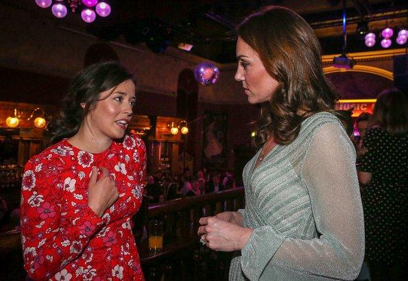 Kate Middleton wore a Missoni metallic lurex midi dress