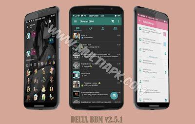 BBM Mod DELTA Material Design v2.9.0.51 Apk