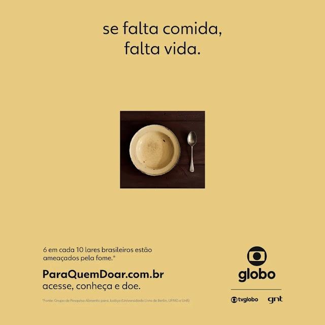 Globo lança campanha de combate à fome