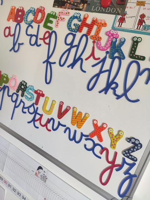alphabet montessori ief lettres cursives correspondance différentes écritures maternelle