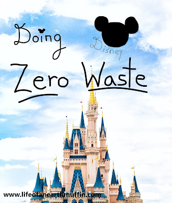 Image of Cinderella castle at Disney's Magic Kingdom with the words Doing Disney Zero Waste across it