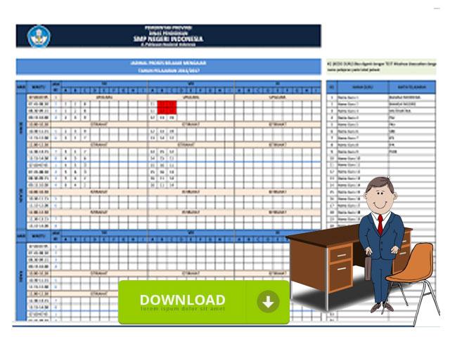 Contoh Format Jadwal Proses Belajar Mengajar Jenjang SMP