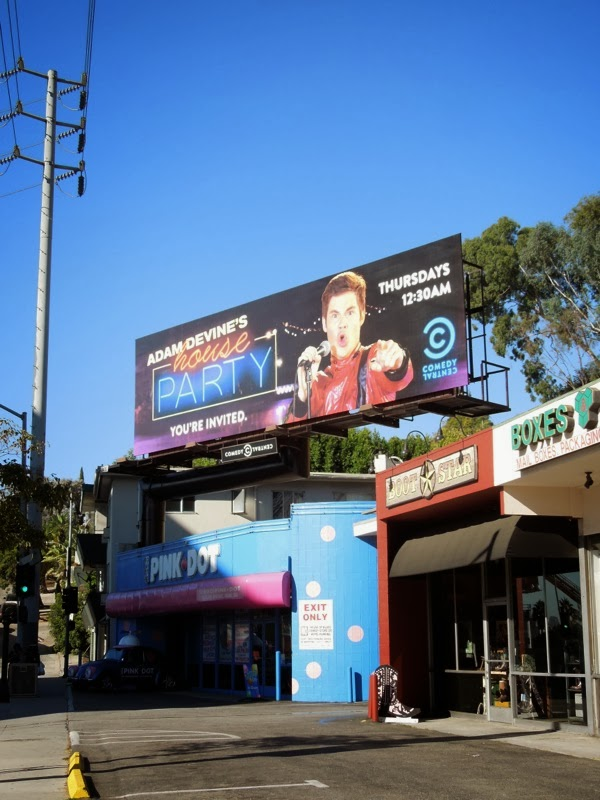 Adam Devine House Party billboard Sunset Strip