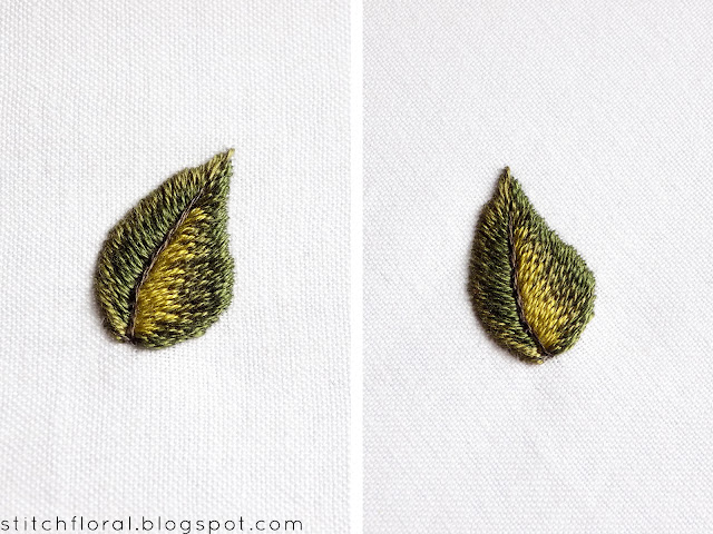 Needlepainting tips part 2: leaves practice