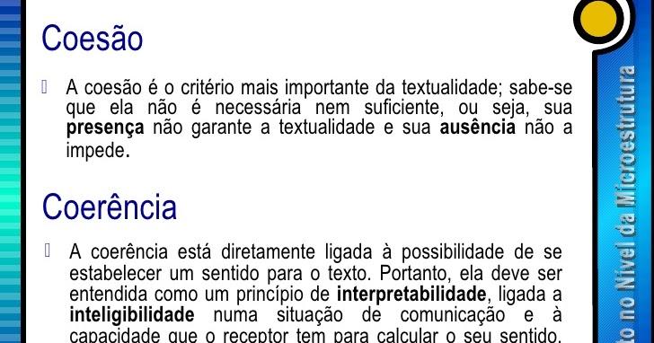 Português Instrumental: Coesão e Coerência Textual – O que